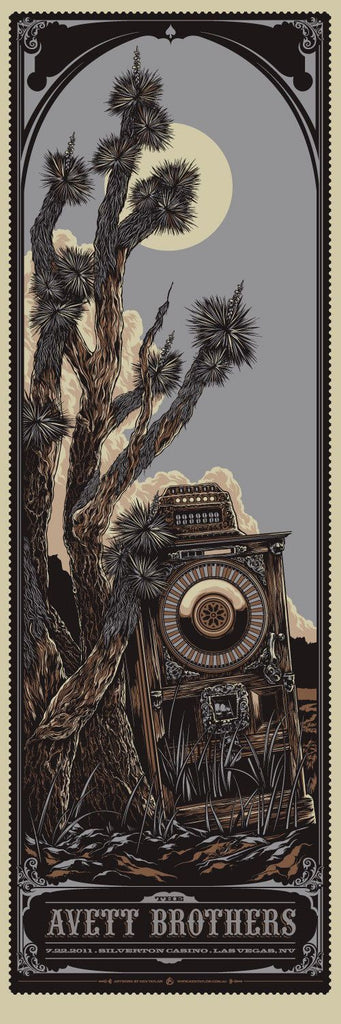 The Avett Brothers Vegas Concert Poster by Ken Taylor