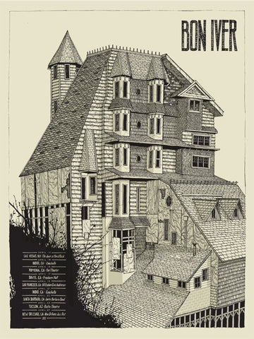 Bon Iver Tour Poster by Landland (Keyplate Edition)