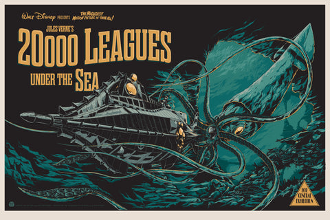 20,000 Leagues Under the Sea Movie Poster by Ken Taylor