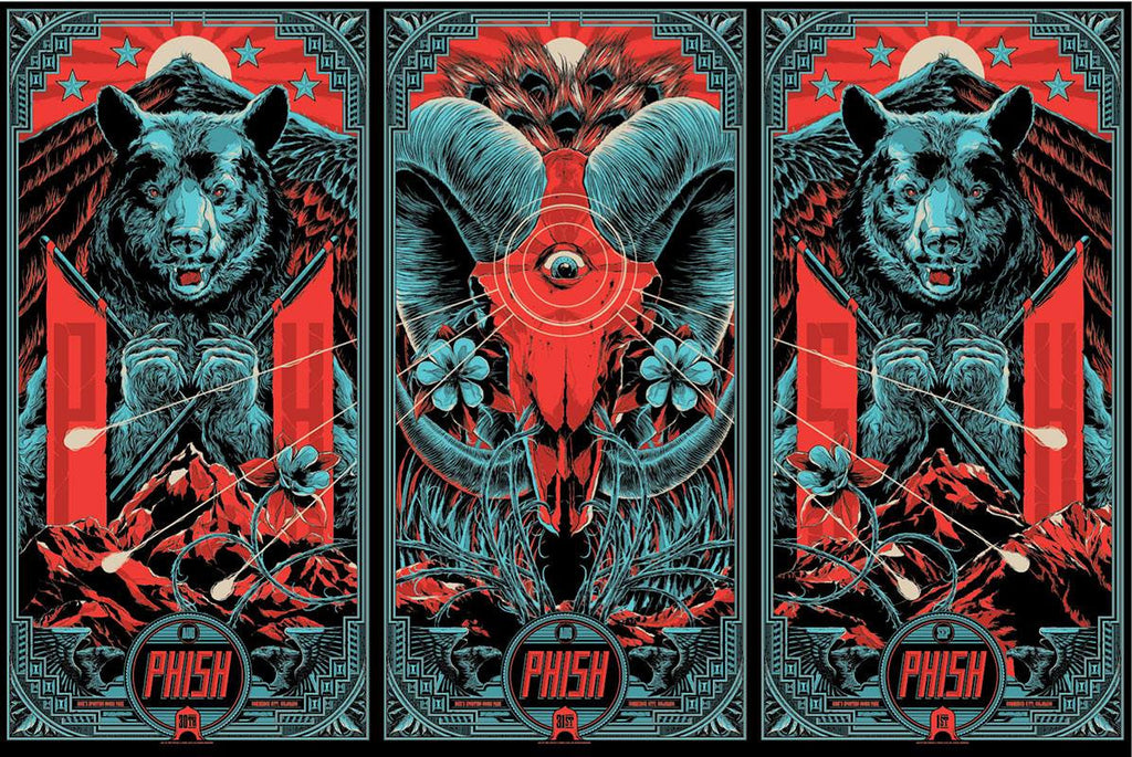 Phish Commerce City Poster Set by Ken Taylor
