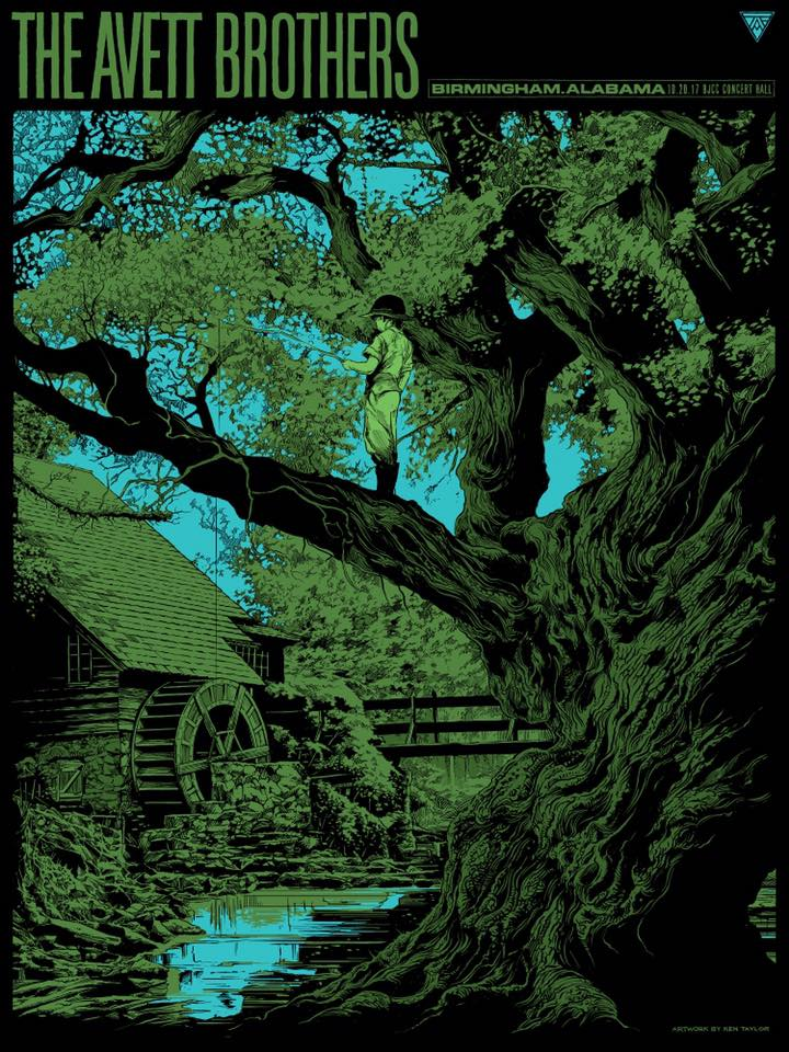 The Avett Brothers Birmingham Poster by Ken Taylor