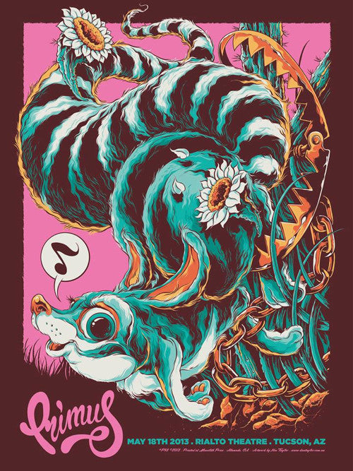 Primus Arizona Concert Poster by Ken Taylor