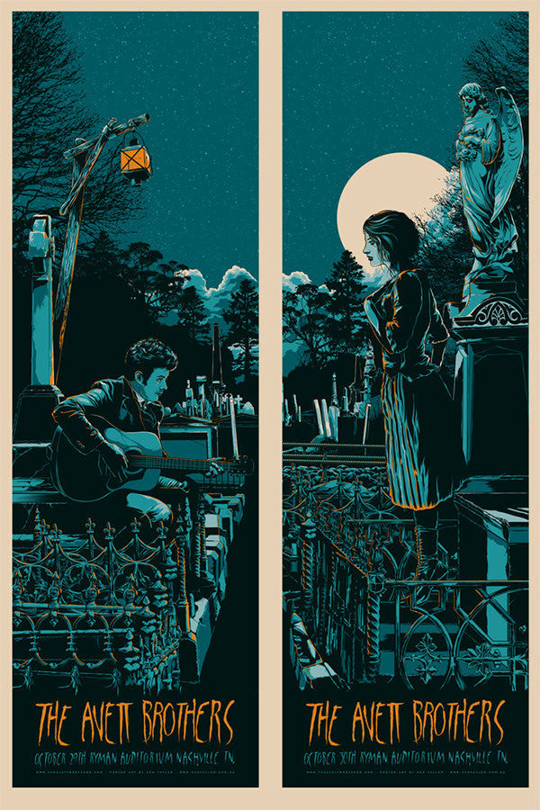 The Avett Brothers Halloween Concert Poster Set by Ken Taylor