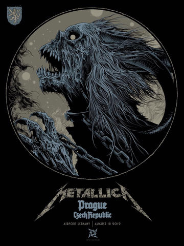 Metallica Prague Poster by Ken Taylor