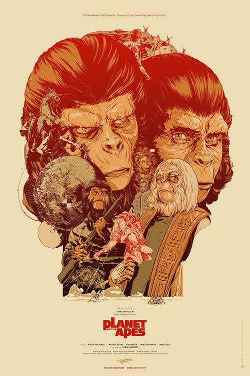 Planet of the Apes (WOOD VARIANT) Poster by Martin Ansin