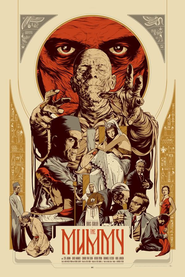 The Mummy (WOOD VARIANT) Poster by Martin Ansin