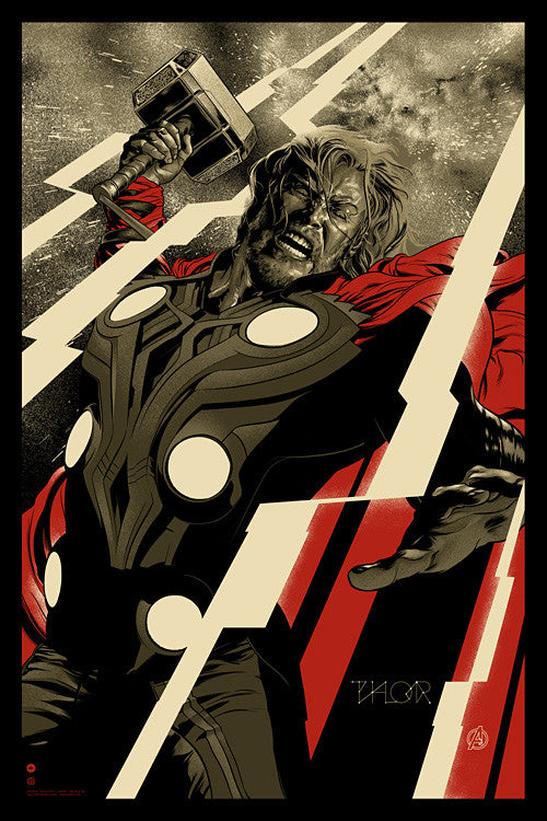 Thor Poster by Martin Ansin