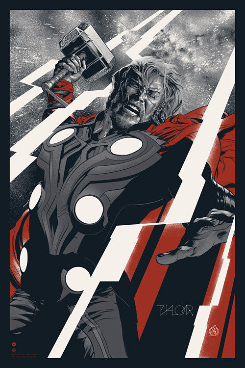 Thor (Variant) Poster by Martin Ansin