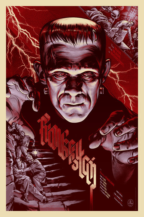 Frankenstein poster by Martin Ansin