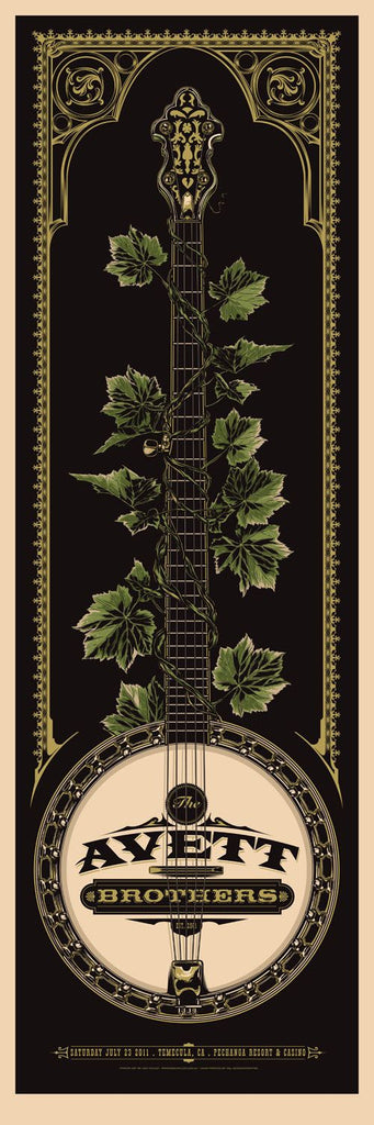 The Avett Brothers Temecula Concert Poster by Ken Taylor