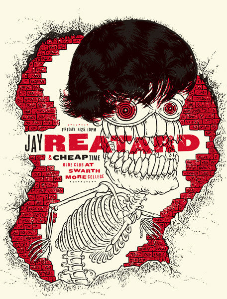 Jay Reatard Concert Poster by Warm
