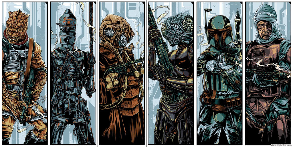 Bounty Hunters Print Set by Ken Taylor
