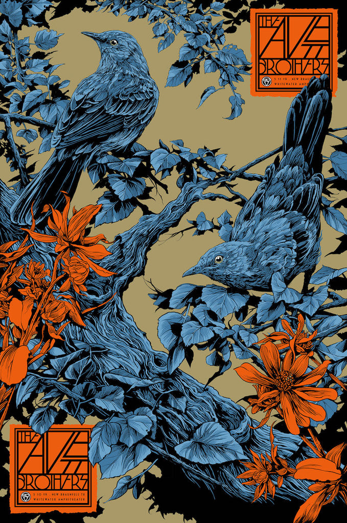 The Avett Brothers TX Poster (Uncut) by Ken Taylor