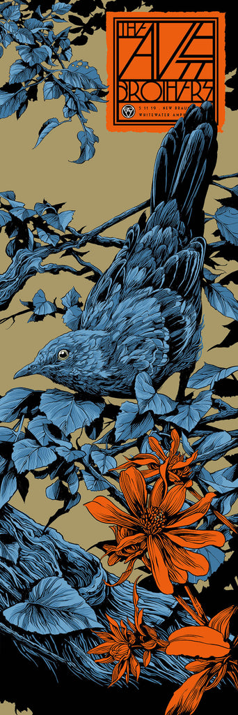 The Avett Brothers TX Poster (Night 2) by Ken Taylor