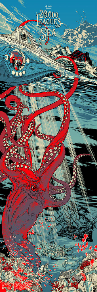 20,000 Leagues Under the Sea Poster by Martin Ansin