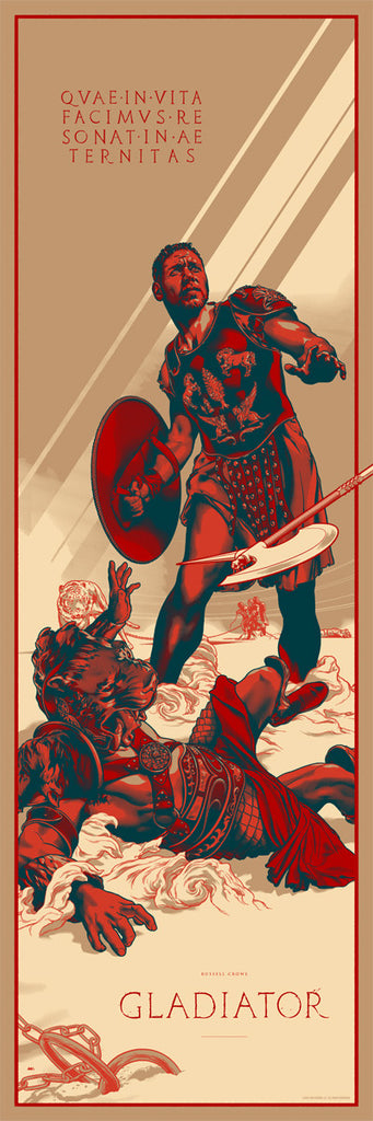 Gladiator Poster by Martin Ansin