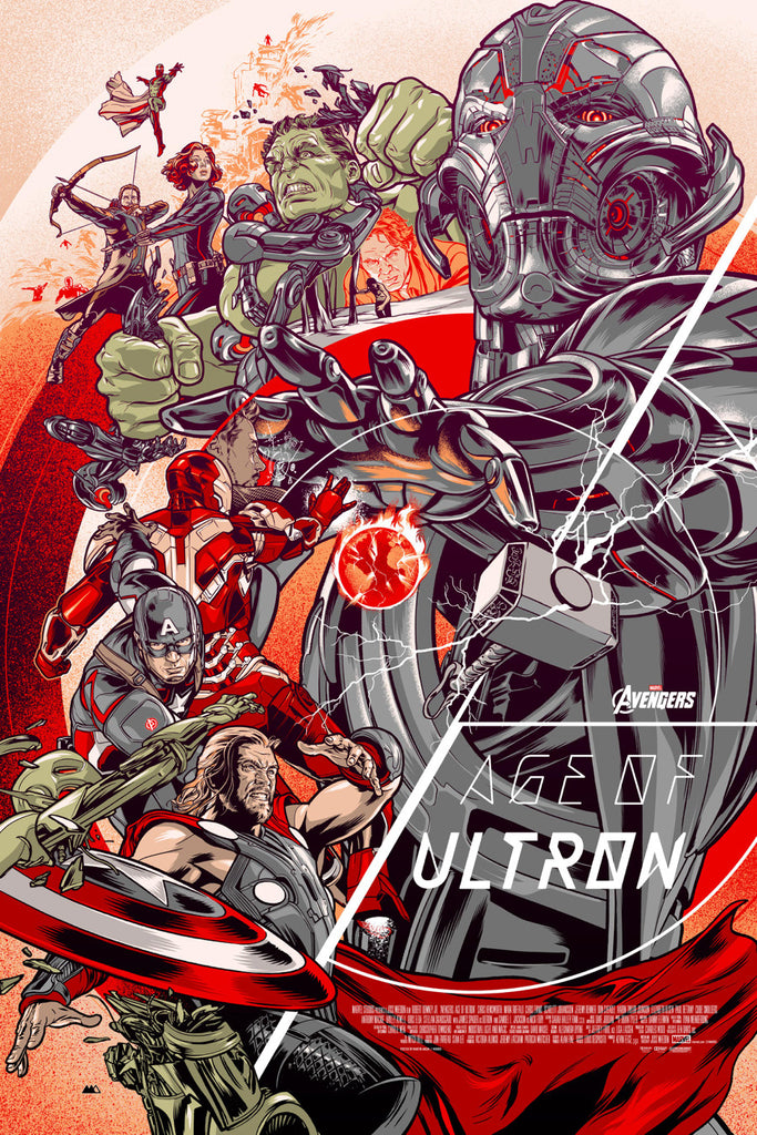 Avengers: Age of Ultron Poster by Martin Ansin