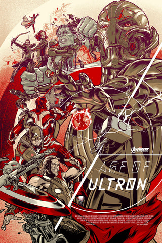 Avengers: Age of Ultron Poster by Martin Ansin  (Variant)