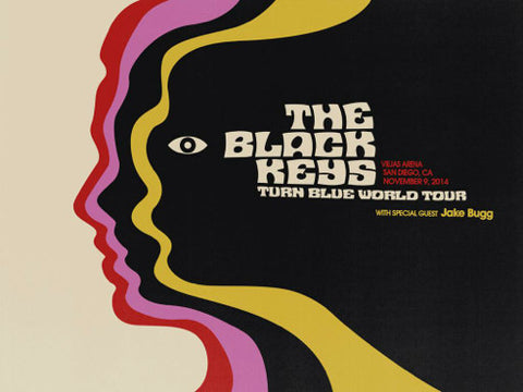 The Black Keys Concert Poster by Jay Shaw