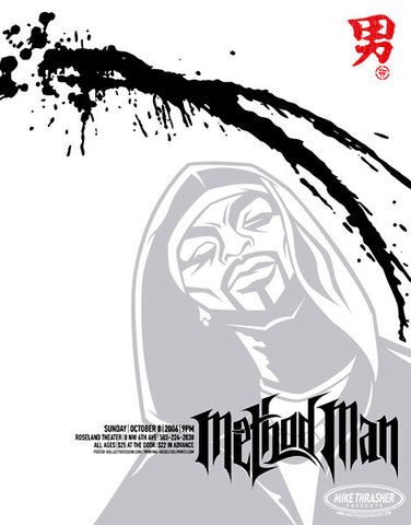 Method Man Concert Poster by Bobby Dixon