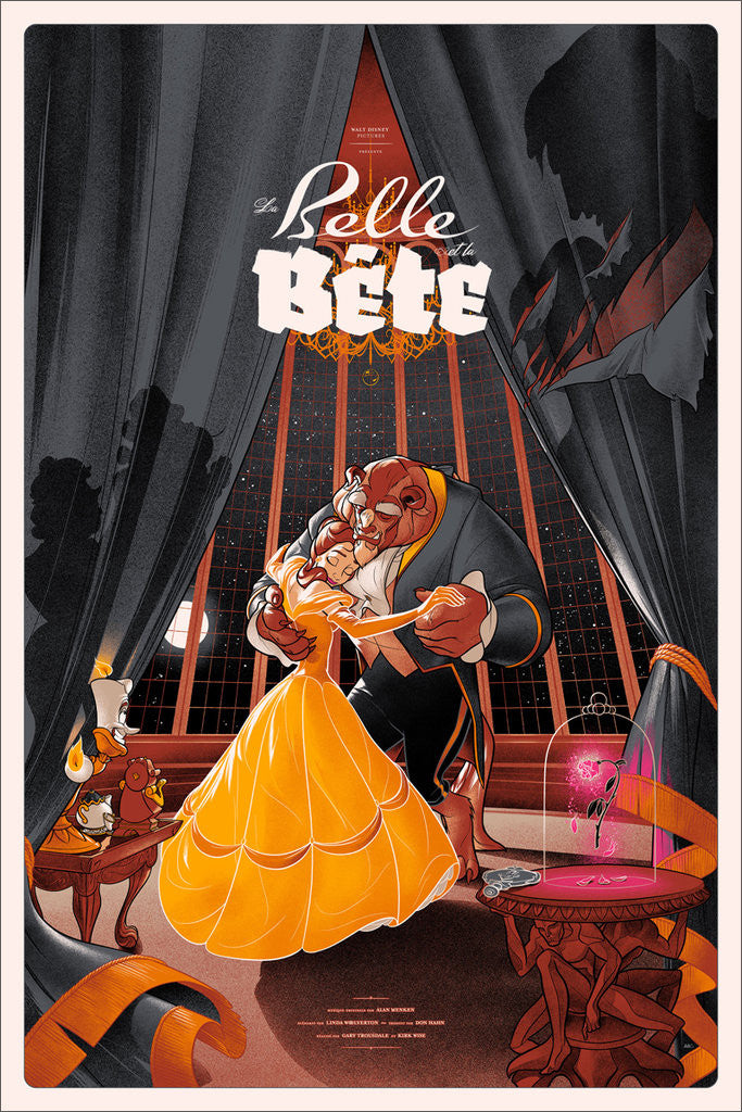 Beauty and the Beast (Variant) Poster by Martin Ansin