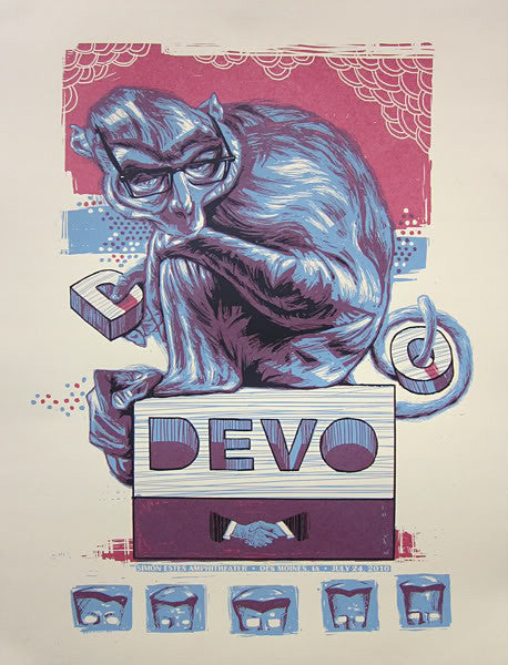 Devo Concert Poster by Rich Kelly