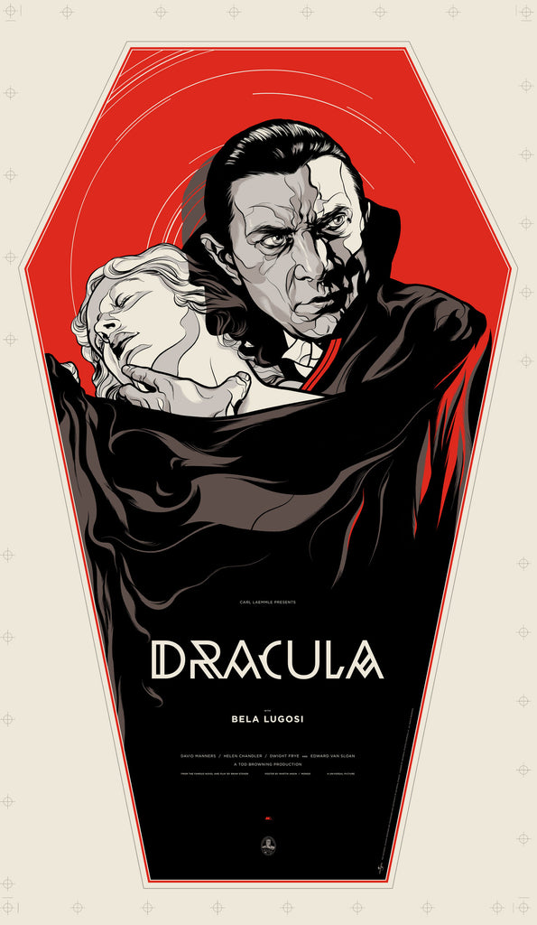 Dracula (WOOD VARIANT) Poster by Martin Ansin