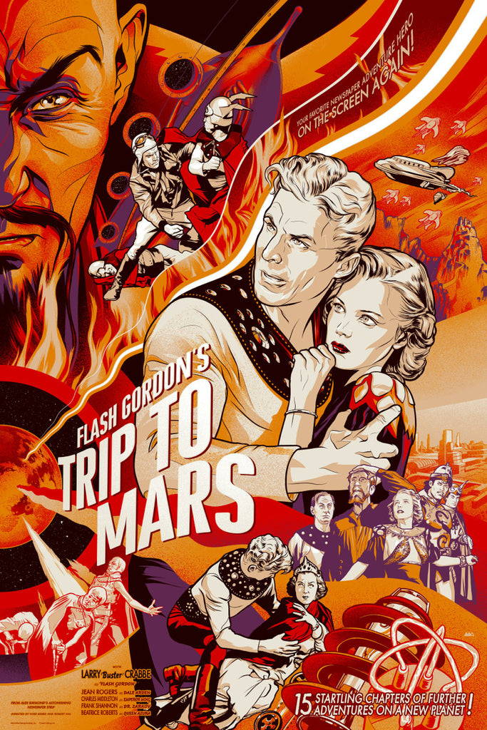 Flash Gordon (1938) Poster by Martin Ansin