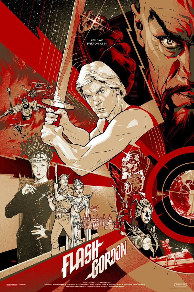 Flash Gordon (1980) Poster by Martin Ansin  (Variant)