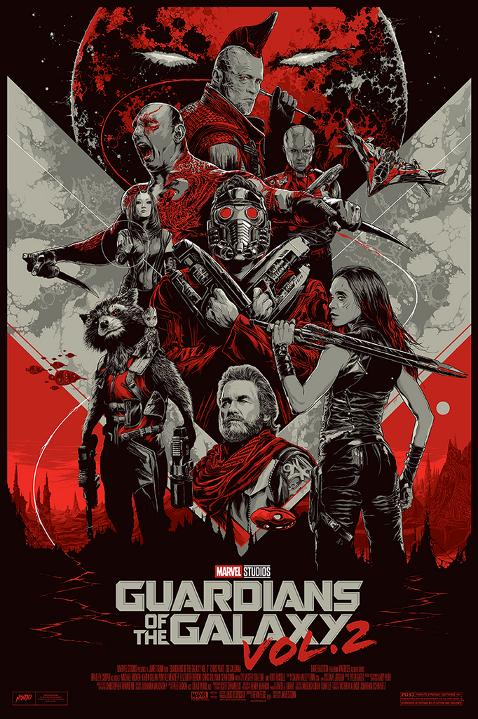Guardians of the Galaxy Vol. 2 (Variant) Movie Poster by Ken Taylor