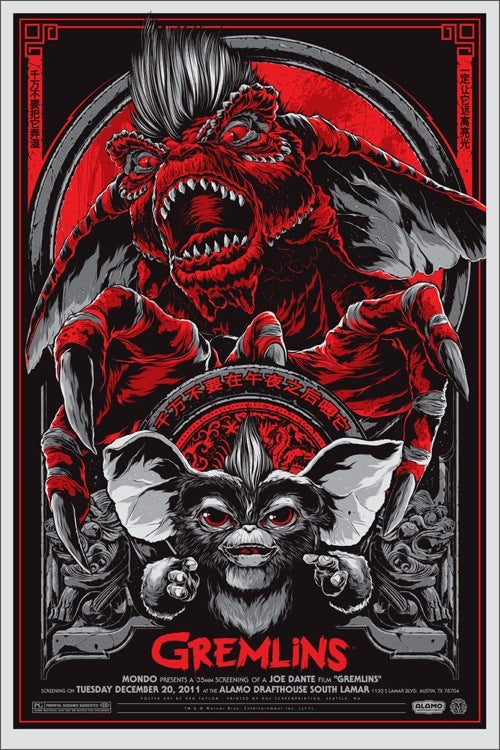 Gremlins (Variant) Movie Poster by Ken Taylor