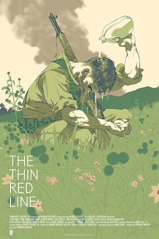 The Thin Red Line Poster by Tomer Hanuka