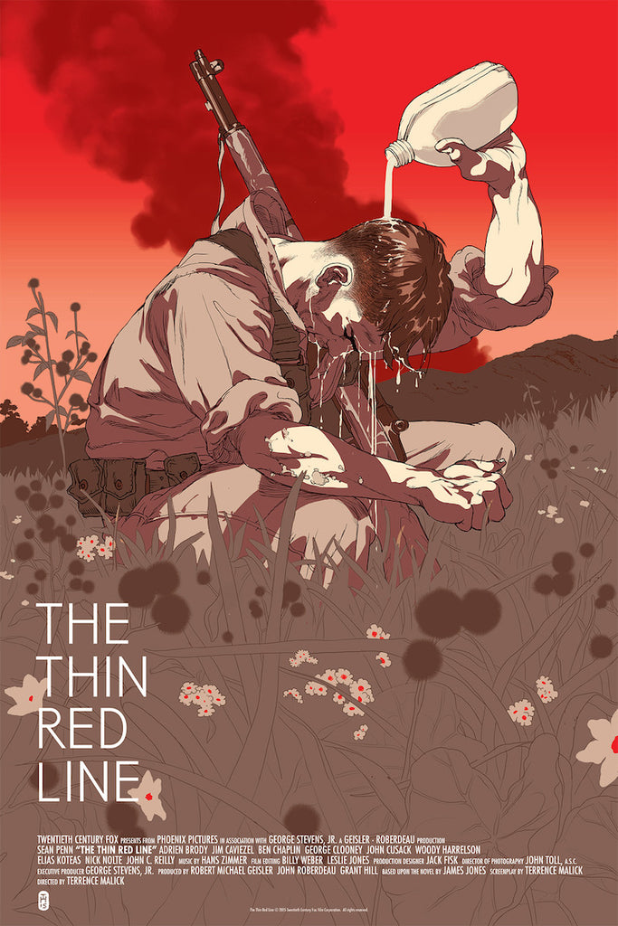 The Thin Red Line Poster (Variant) by Tomer Hanuka