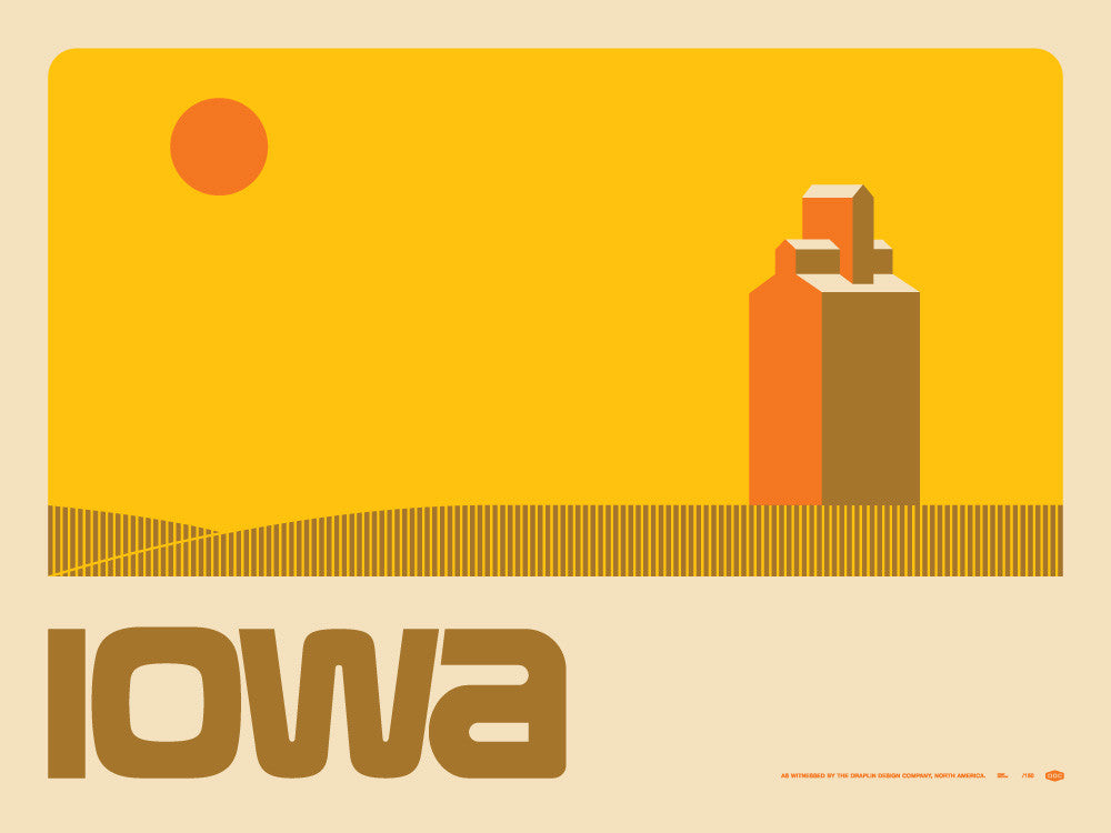 Iowa Poster by Aaron Draplin