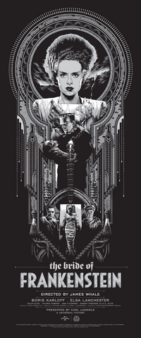 The Bride of Frankenstein Poster by Ken Taylor