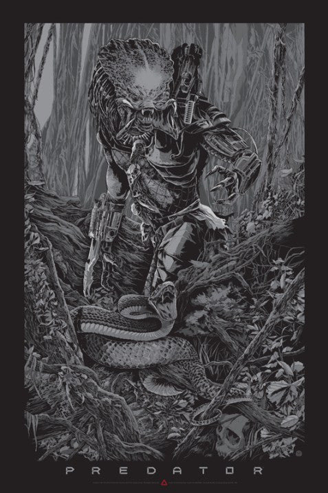 Predator (Silver Variant) Poster by Ken Taylor