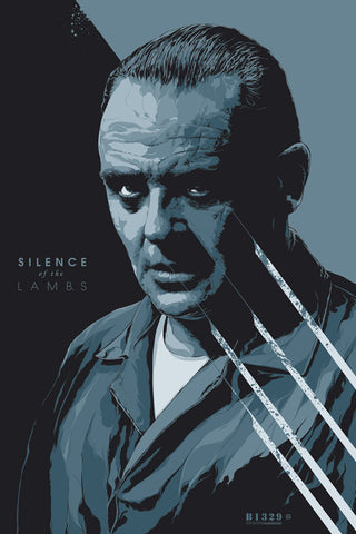 The Silence of the Lambs Poster by Ken Taylor (Variant)