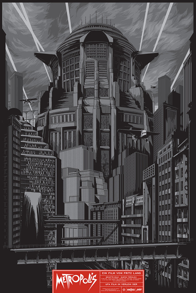 Metropolis Silver Movie Poster by Ken Taylor