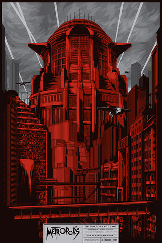 Metropolis (Red Variant) Movie Poster by Ken Taylor