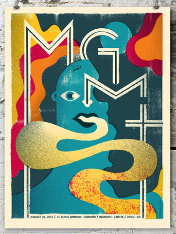 MGMT Concert Poster by Doe Eyed