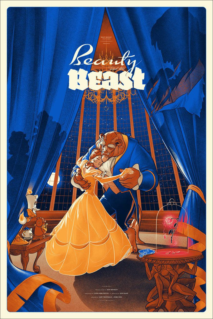 Beauty and the Beast Poster by Martin Ansin