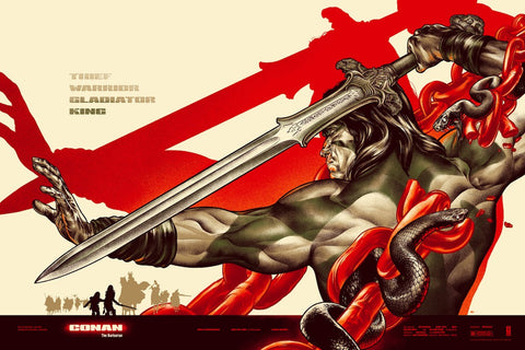Conan the Barbarian Poster by Martin Ansin