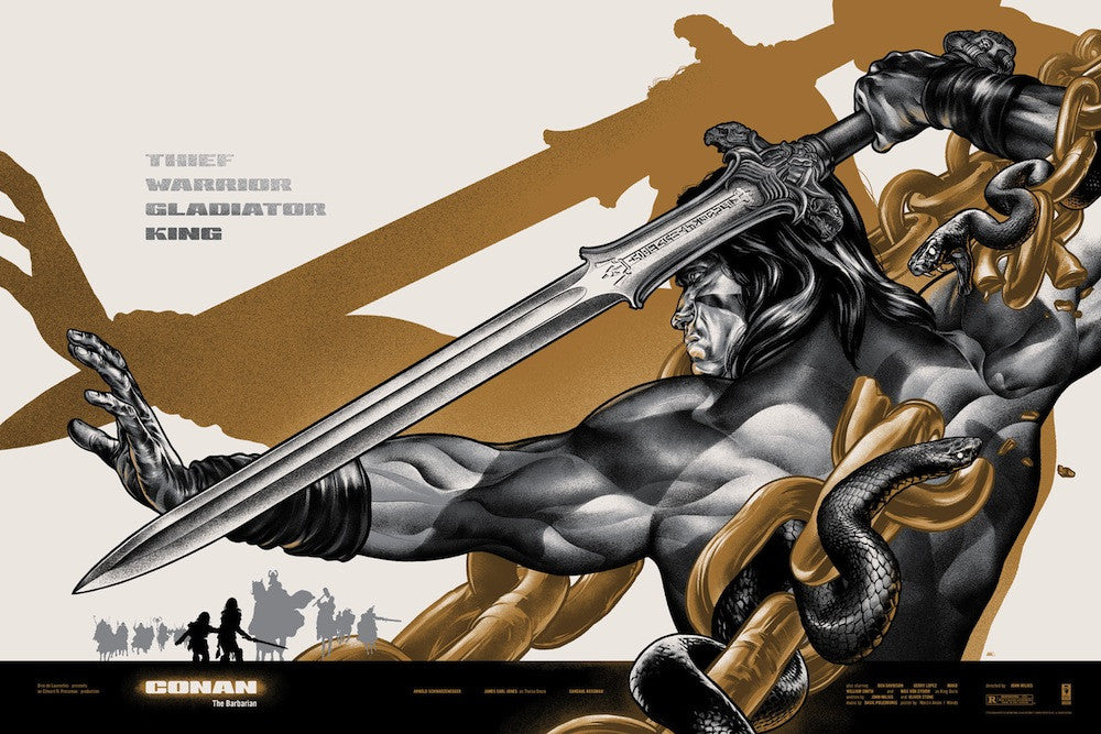 Conan the Barbarian (Variant) Poster by Martin Ansin