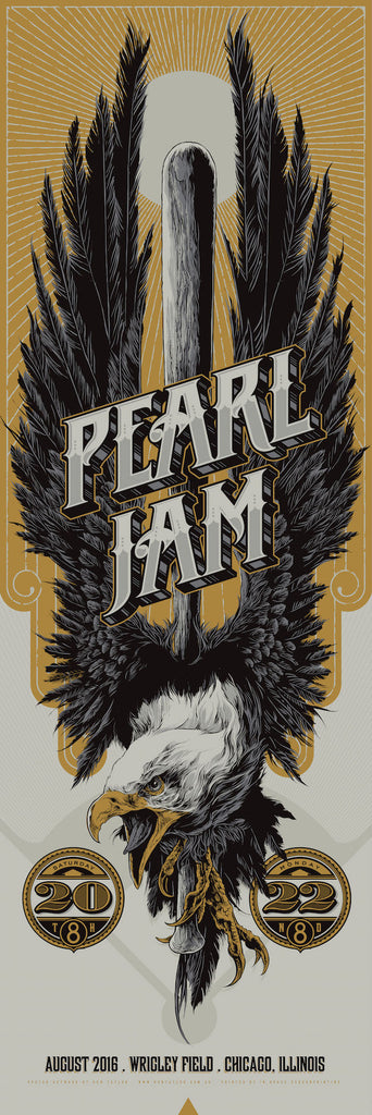 Pearl Jam (Wrigley Field) Poster by Ken Taylor