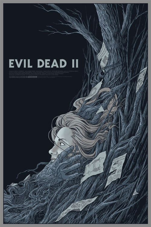 Evil Dead II Poster by Randy Ortiz  (Variant)