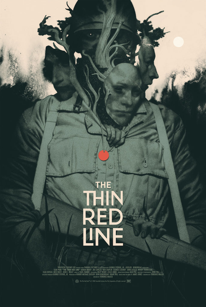 The Thin Red Line Poster by João Ruas