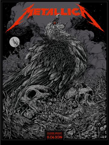 Metallica Germany Concert Poster by Ken Taylor