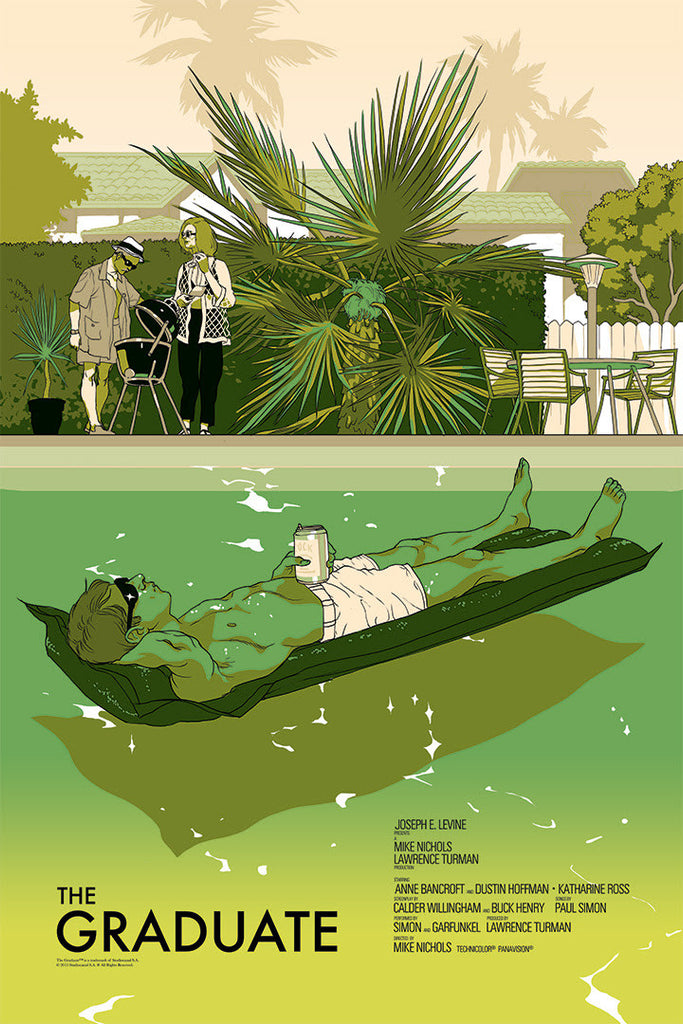The Graduate Poster by Tomer Hanuka