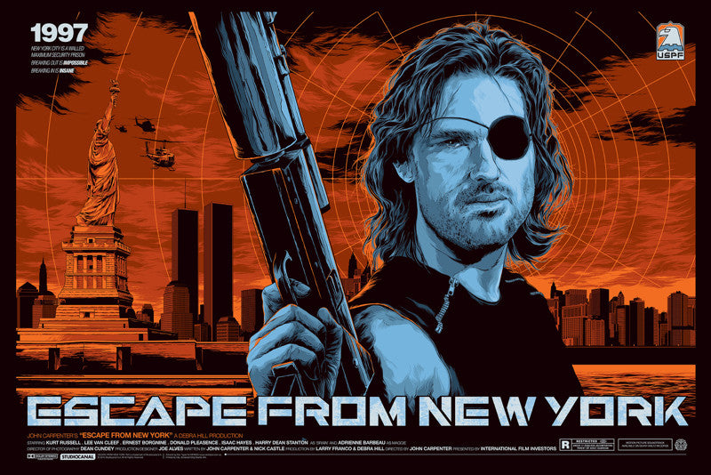 Escape from New York Movie Poster by Ken Taylor