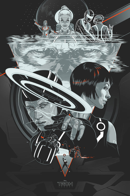 Tron Legacy (Variant) Movie Poster by Martin Ansin